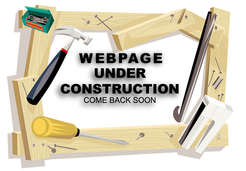 website page under construction